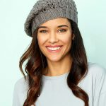 Lace Beret Free Hat Knitting Pattern