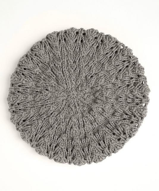 Lace Beret Free Hat Knitting Pattern ⋆ Knitting Bee