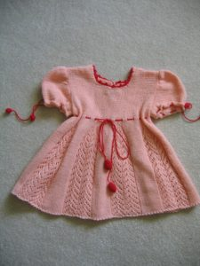 Lacy Tunic Baby Dress Knitting Pattern Free