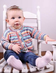 Quilted Lattice Cardigan knitting pattern baby