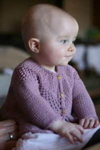 Ravi Junior baby cardigan knitting pattern