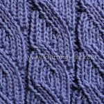 Ribbed Diagonal Lace Free Knitting Stitch from www.knitting-bee.com
