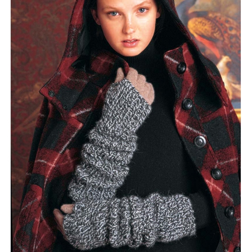 Ribbed Wristers Free Knitting Pattern