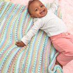 Self-Striping Baby Blanket Free Knitting Pattern