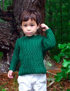 Sherwood Cabled Children's Sweater Free Knitting Pattern