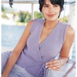 Sleeveless Wrap Top Free Summer Knitting Pattern