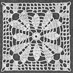 Square Lace Flower Crochet Pattern