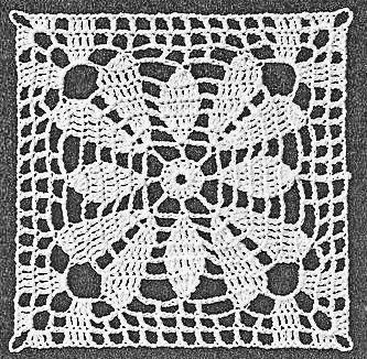 Square Lace Flower Crochet Pattern