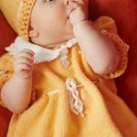 Sweet Baby Dress, Hat and Booties Knitting Pattern