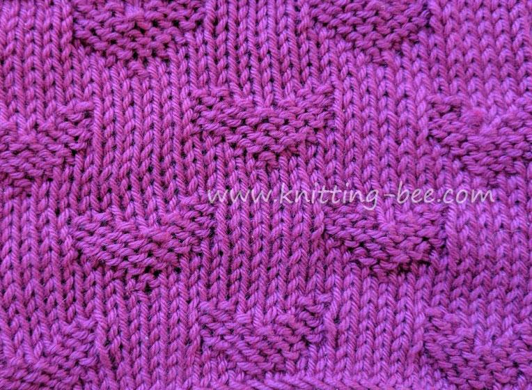 Sweet Hearts Free Knitting Stitch by www.knitting-bee.com