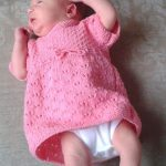 newborn lace baby dress free knitting pattern
