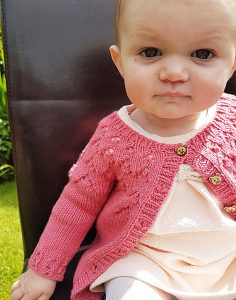 The Gift Free Lace Baby Cardigan Knitting Pattern