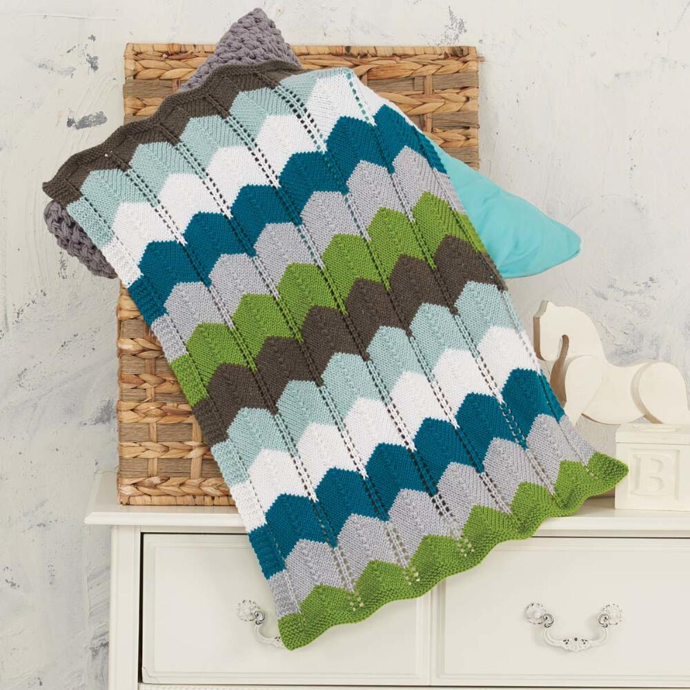 Willow Yarns Clear Skies Baby Blanket