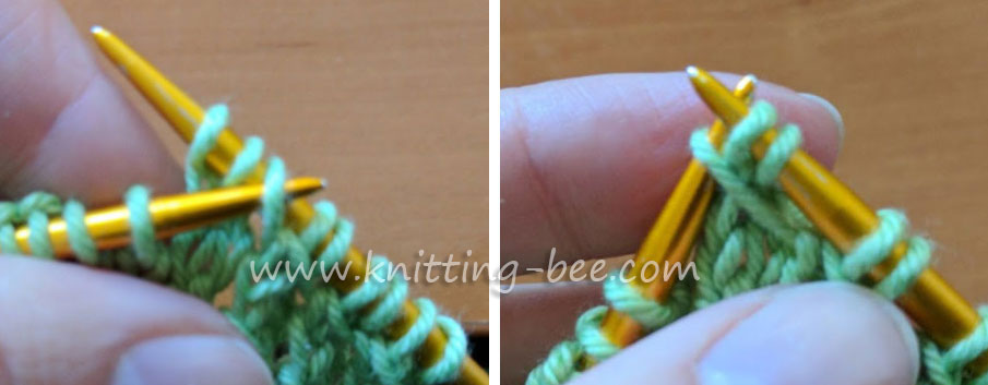 Bamboo Stitch - Free Knitting Stitch by www.knitting-bee.com