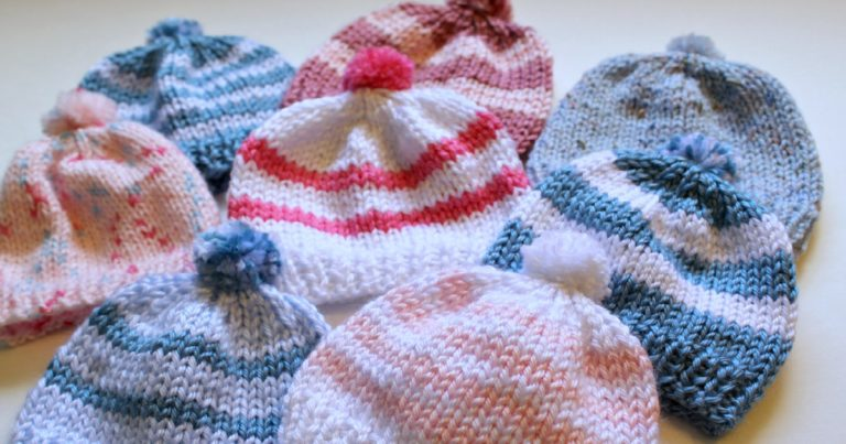 Free Free Striped Baby Hat Knitting Pattern Patterns Knitting Bee