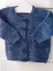 free baby cardigan knitting pattern lace