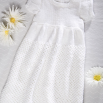 Baby Knit Christening Gown Free Knitting Pattern Download. Free baby knit patterns, baby gown, baby dress, Christening patterns.