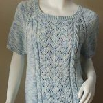 Bamboozle Raglan Short Sleeve Lace Top Free Knitting Pattern