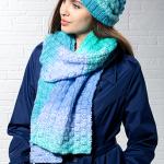 Basketweave Hat and Scarf Set Free Knitting Pattern Download. scarf and hat knit pattern, knit set pattern.