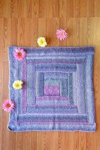 Box of Blocks Baby Blanket Free Easy Knit Pattern