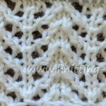 Chevron Rib Lace Free Knitting Stitch by https://www.knitting-bee.com/knitting-stitch-library/lace-stitches/chevron-rib-lace-free-knitting-stitch