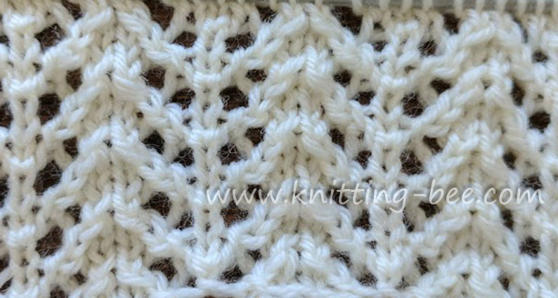Chevron Rib Lace Free Knitting Stitch by  https://www.knitting-bee.com/knitting-stitch-library/lace-stitches/chevron-rib-lace-free-knitting-stitch