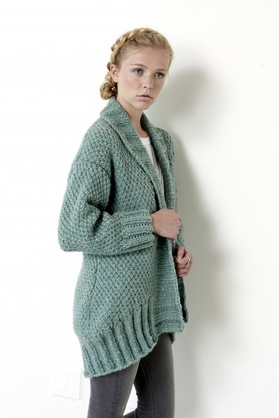 Cocoon Cardigan Intermediate Womens Cardigan Knit Pattern