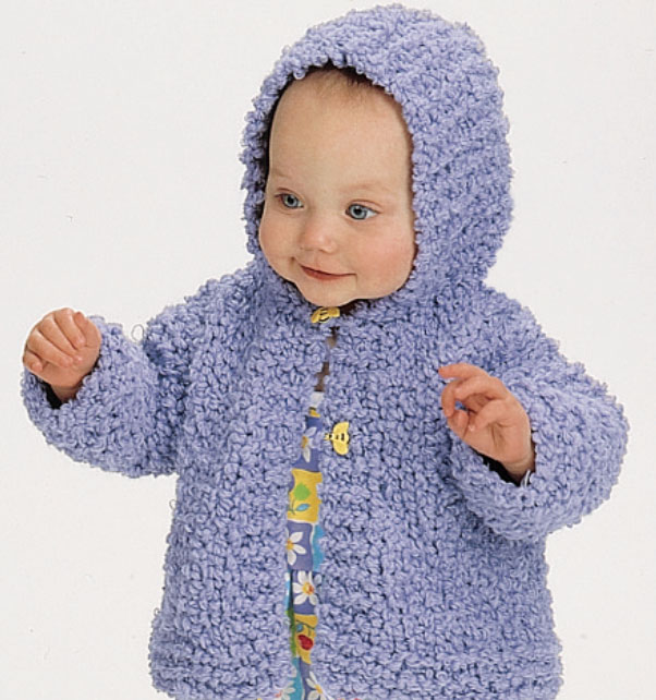Comfy Hooded Jacket for Baby Free Knitting Pattern ⋆ Knitting Bee