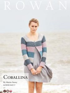 Corallina Striped Cardigan Free Knitting Pattern. Modern Cardigan knit pattern.