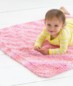 Easy and Free Garter Stitch Baby Blanket Knitting Patterns. Click post for more!