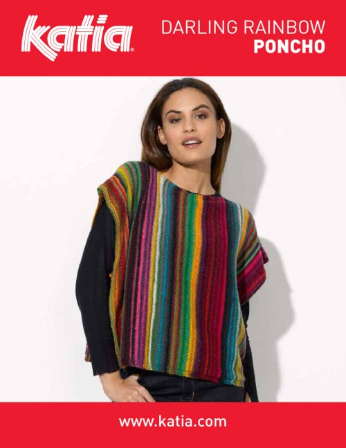 Free Free Striped Poncho Knitting Patterns Patterns Knitting Bee