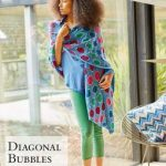 Diagonal Bubbles Colorful Wrap Free Knitting Pattern.