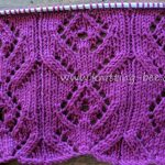 Diamond Flower Free Lace Knitting Stitch
