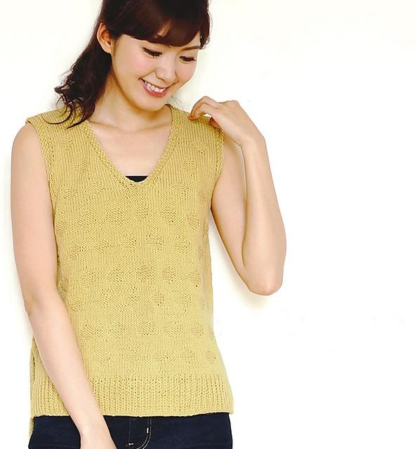 Dot Pattern Vest Free Knitting Pattern Diagrams
