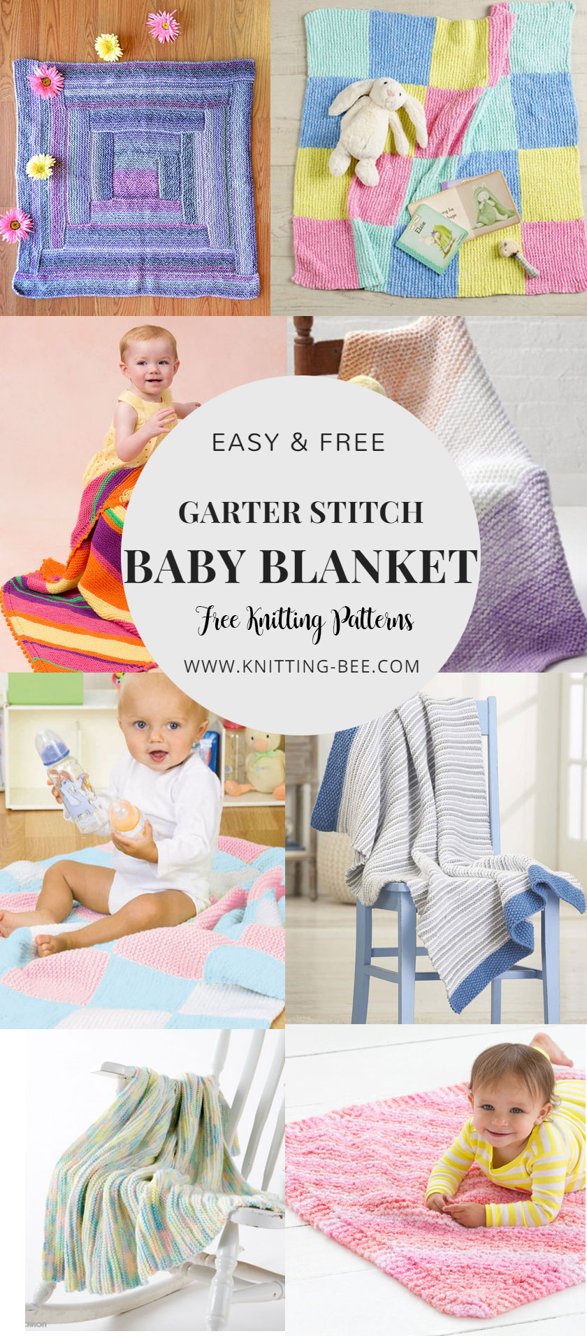 807265f50 Easy and Free Garter Stitch Baby Blanket Knitting Patterns ...