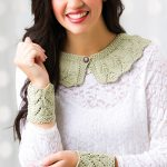 Easy lace collar and cuffs knitting pattern