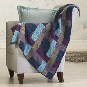 Eldie Throw Free Knitting Pattern Download. Download this amazing free knitting pattern for a blanket with garter stitch blocks.