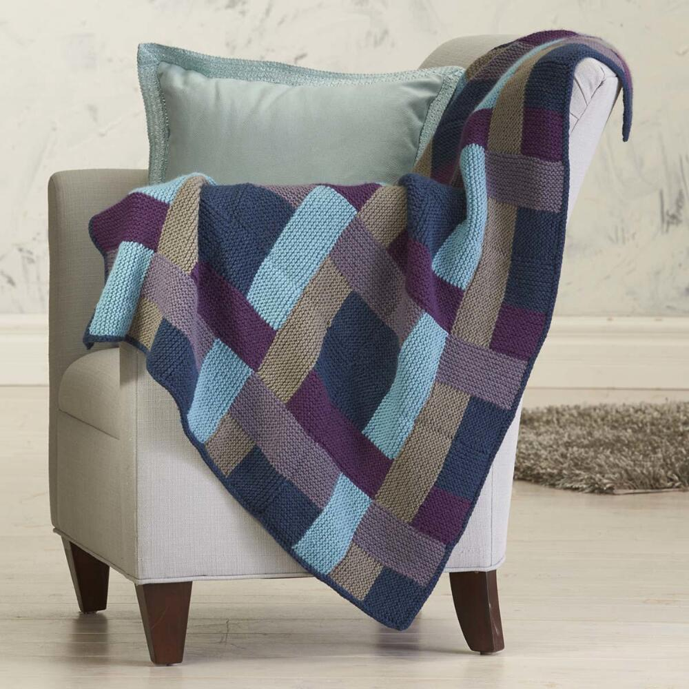 Eldie Throw Free Knitting Pattern Download. Download this amazing free knitting pattern for a blanket with garter stitch blocks.