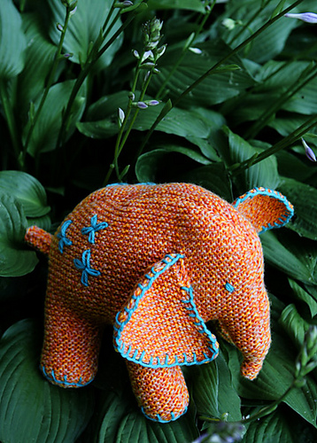 Flo the Elephant Free Knitting Pattern
