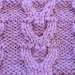 Free Cable Knitting Stitch - Horseshoe Stitch by www.knitting-bee.com