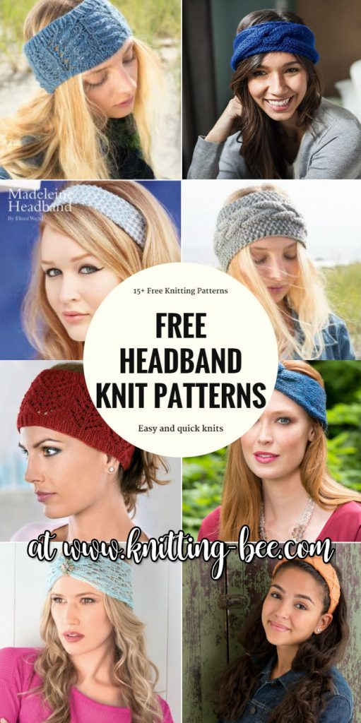 Free headband Knitting patterns http://www.knitting-bee.com/free-knitting-patterns/headband-knitting-patterns/15-free-headband-knitting-patterns-quick-knits