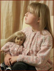 Girl S Cardigan Free Knitting Pattern With Pretty Yoke And