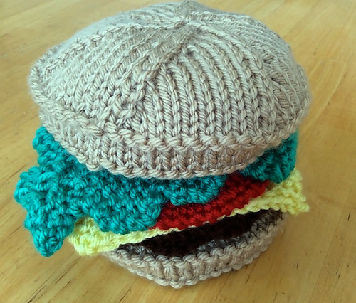 Hamburger Free Knitting Pattern