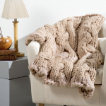 Hearthside Throw Free Chunky Cabled Knit Pattern. Cable blanket knitting pattern. Free knitting pattern downloads
