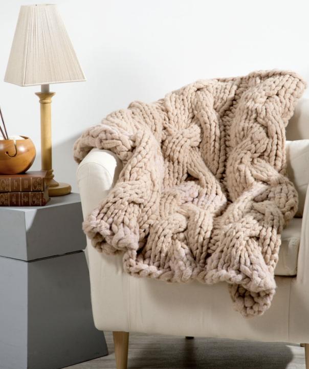 Free Bulky Yarn Blanket Patterns Patterns Knitting Bee 11 Free