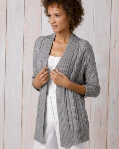 Free Long Cardigan Knitting Patterns with cables