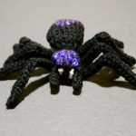Knit A Spooky, Sparkly Spider - Free Pattern