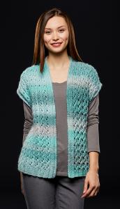 Lace Rib Vest Free Knitting Pattern, free knitting patterns, women's vest knit.