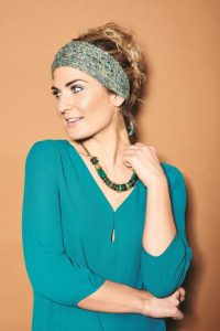 free lace ripple headband knitting pattern.