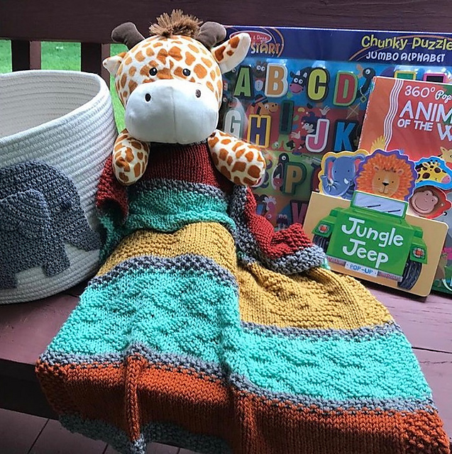 Lionhearted Baby Blanket Free Knitting Pattern